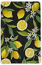 CPYang Tagesdecke mit Zitronenbaum-Motiv, weich,