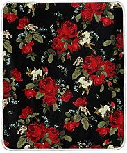 CPYang Überwurf-Decke mit Blumenmuster und
