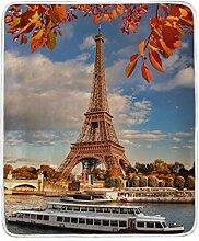 CPYang Überwurf-Decke mit Eiffelturm-Motiv, aus