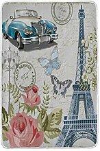 CPYang Überwurfdecke Paris Vintage Postkarte