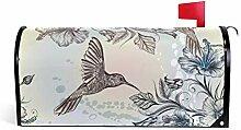 CPYang Vintage Kolibri Tropische Blume Magnet