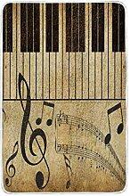CPYang Vintage Piano Musik Note Überwurf, weich,