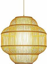 CQLAN Bambus kronleuchter Retro Beleuchtung