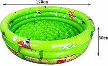 Cqq Badewanne Umweltschutz PVC-Material Baby Aufblasbare Schwimmbecken, Familienspiel-Pool, Kinder Spiel-Pool Schwimmen Eimer Neugeborene Wanne (120*30cm) ( Farbe : Grün , größe : 120*30cm )