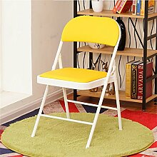 Cqq Barstühle Klappstuhl Sessel Haus Hocker Esszimmerstuhl Portable Stuhl Klappstuhl Hocker Wohnzimmer einfach Esszimmer Stuhl ( Farbe : Gelb )