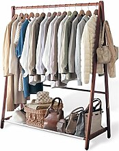 Cqq Garderoben Kreative Garderobenständer Floorstanding massivholz Kleiderbügel schlafzimmer Europäischen stil kleiderbügel Stand schlafzimmer holz kleiderständer ( Farbe : Braun )