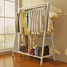 Cqq Garderoben Kreative Garderobenständer Floorstanding massivholz Kleiderbügel schlafzimmer Europäischen stil kleiderbügel Stand schlafzimmer holz kleiderständer ( Farbe : Weiß )