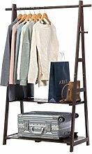 Cqq Garderoben Massivholz Kleiderständer Boden Stil einfach Kleiderbügel Schlafzimmer Wohnzimmer Holz Kleiderständer Kinder Lagerregal ( Farbe : Braun )