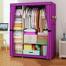 Cqq Kleiderschrank Falten einfacher Kleiderschrank Tuch Stahlrahmen Tuch Kleiderschrank Aufbewahrungsbox Einfache moderne Wirtschaft Schlafzimmer Einbauschrank ( Farbe : F )