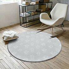Cqq Teppich Couchtisch Wohnzimmer Teppich Nordic Style Mode runden Teppich Schlafzimmer Decke Computer Stuhl Drehstuhl Teppich ( Farbe : B , größe : 100*100cm )