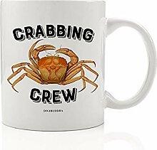 Crabbing Crew Tasse Geschenkidee Fisherman Krabbe