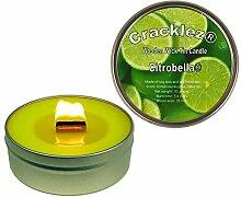 Cracklez Knister Holzdocht Citronella Kerze in
