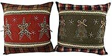 Craft Outlet Inc Weihnachtskissen-Set, 14 x 14 x
