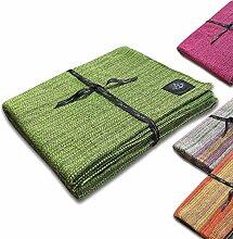 Craft Story Decke YARA I Uni apfelgrün aus 100%