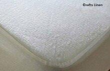 Crafts Leinen Wasserdicht Matratzenschoner Terry Baumwolle King Single Größe (+ 15cm) Pocket Tiefe weiß solide umgreifung Style atmungsaktiv wasserdicht Membran saferest Premium