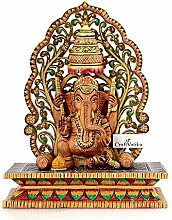 craftvatika Big Ganesha Statue aus Holz Ganesha