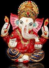 craftvatika Ganesh Statue Hindu Gott Figur bemalt