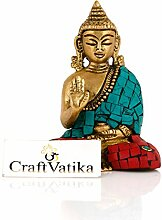 craftvatika Messing Buddha Statue für Geschenk