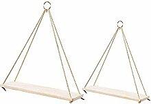 Cratone 2 Holz Seil Zum Aufhängen Swing