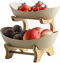 Cratone Obst Etagere 2 Etagen Keramik 2 Stöckig