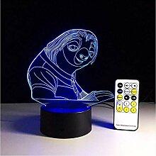 Crazy Animal City 7 Farben Ändern 3D Remote Touch