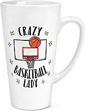 CRAZY Basketball Lady 17oz große Latte Becher