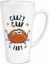 Crazy Crab Lady Sterne 17oz große Latte Becher