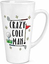 Crazy Golf Man 17oz Groß Latte Becher
