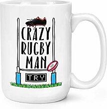 Crazy Rugby Man 15oz L Becher Tasse