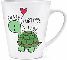 Crazy Schildkröte Lady 12oz Latte Becher