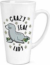 Crazy Seal Lady Sterne 17oz große Latte Becher