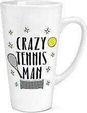 Crazy Tennis Mann 17oz große Latte Becher
