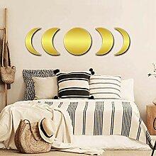 CrazyDeal Mond Phase Spiegel Set Gold