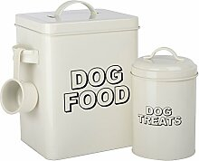 CrazyGadget® Hundefutter- und Leckerlie-Dosen-Set
