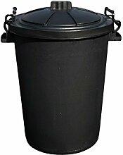 CrazyGadget® Kunststoff-Mülltonne, 85 Liter,