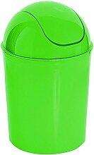 crazygadgetâ ® 7Liter 7L klein rund Farbe Kunststoff Recycle Mülleimer Papier Mülleimer Swing (grün, 1)