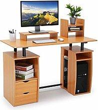 CrazyLynX Computer-Schreibtisch mit Schrank,