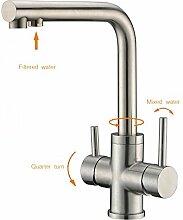CREA 3-Wege-Küchenarmatur, Trinkwasser, heißes