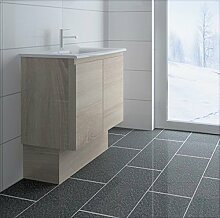 créabain Waschtisch Badezimmer-grau kabelgebunden