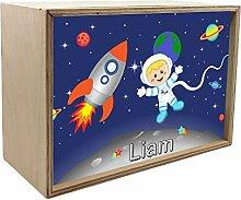 CreaDesign Kinder Wandlampe aus Holz Buche mit