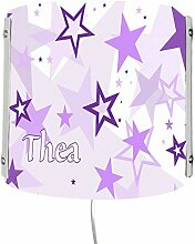 CreaDesign WA-1030-05, Sterne lila, Kinderzimmer