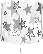 CreaDesign WA-1030-32, Sterne grau, Kinderzimmer
