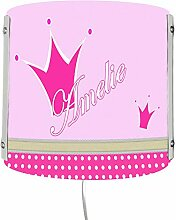 CreaDesign WA-1052-36, Krone pink, Kinderzimmer