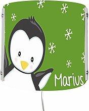 CreaDesign WA-1121-04, Pinguin grün, Kinderzimmer