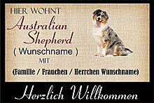 crealuxe Fussmatte/Hundemotiv - Herzlich