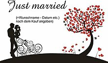 crealuxe Fussmatte Just married mit