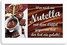 Crealuxe Fussmatte Wer noch nie Nutella mit dem