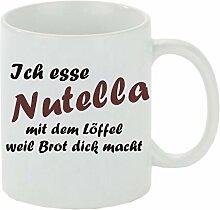 Crealuxe Kaffeebecher Ich Esse Nutella mit dem