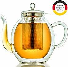 Creano doppelwandige Glas-Teekanne 1,4l mit