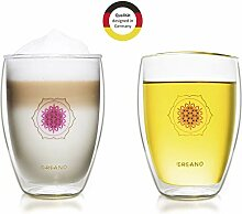 Creano doppelwandiges Tee-Glas, Latte Macchiato,
